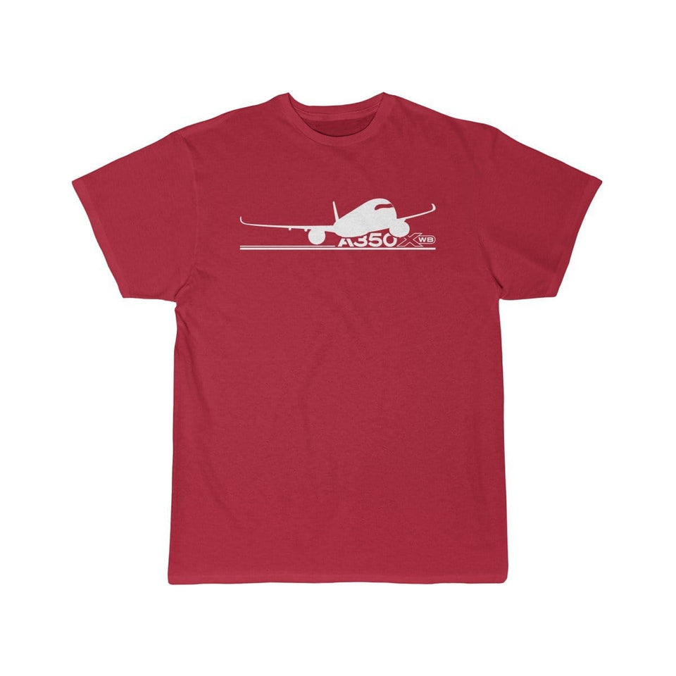 Airplane T-Shirt Red / S Airbus A350 T-shirts