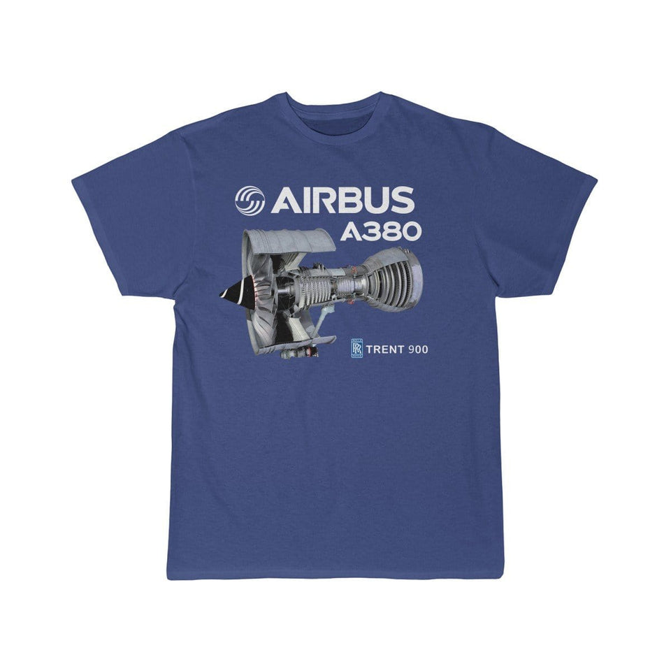 Airplane T-Shirt Royal / S Airbus A 380 T-shirts