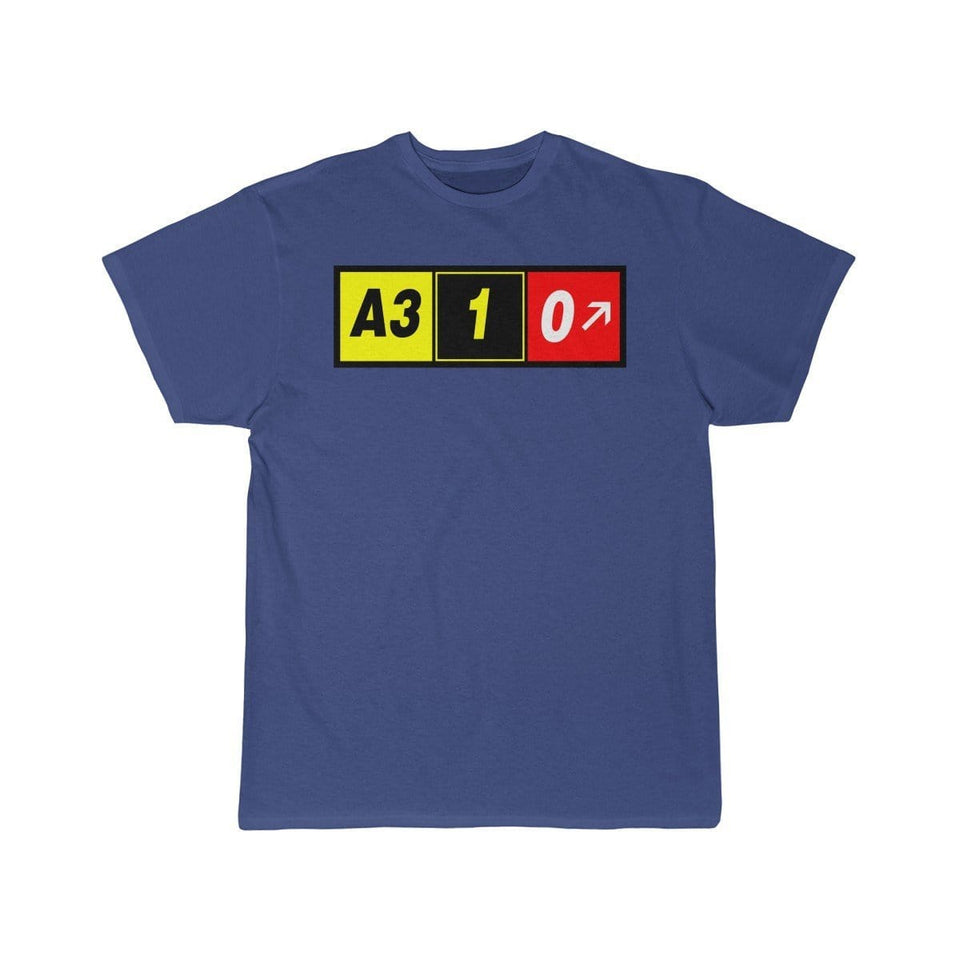 Airplane T-Shirt Royal / S Airbus A310 T-shirts