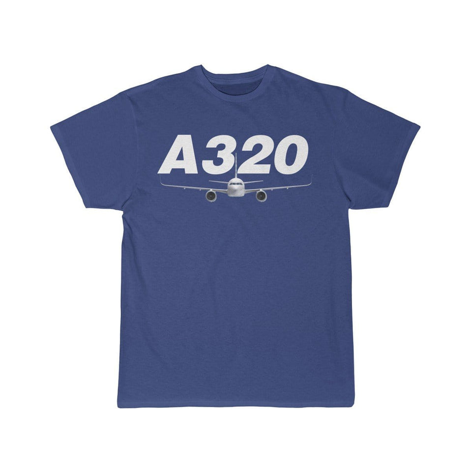 Airplane T-Shirt Royal / S Airbus A320 T-shirts