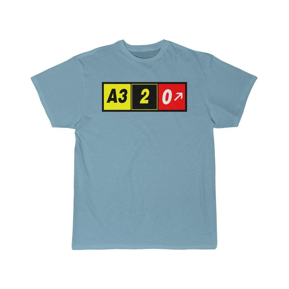 Airplane T-Shirt Sky Blue / S Airbus A320 T-shirts