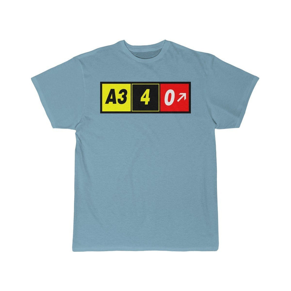 Airplane T-Shirt Sky Blue / S Airbus A340 T-shirts