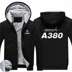 AIRZT HOODIES Black / S Airbus A380 Zipper Sweaters