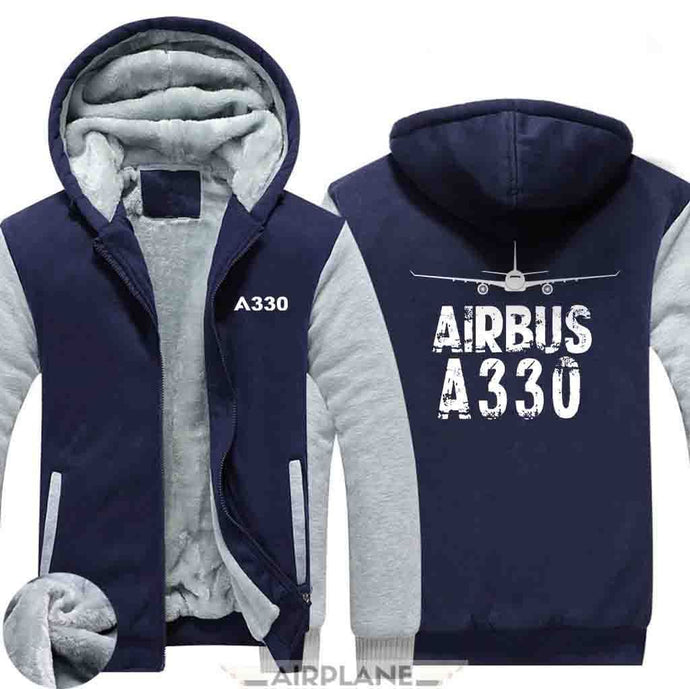 AIRZT HOODIES Blue / S Airbus A330 Zipper Sweaters