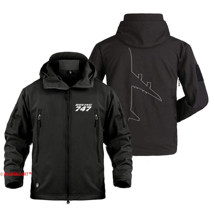 AIRZT Military Fleece Black / S BOEING 747 DESIGNED MILITARY JACKET