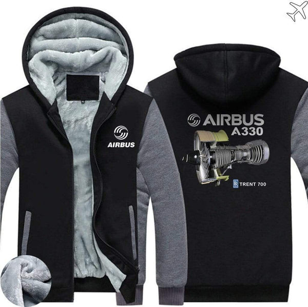AIRZT sweatshirt Blue / S Airbus A330 Zipper Sweaters