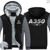 AIRZT sweatshirt Black Gray / S Airbus A350 Zipper Sweaters