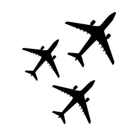 GearNets 14.4cm*17.1cm Three Airplanes Plane Decor Vinyl Car Sticker