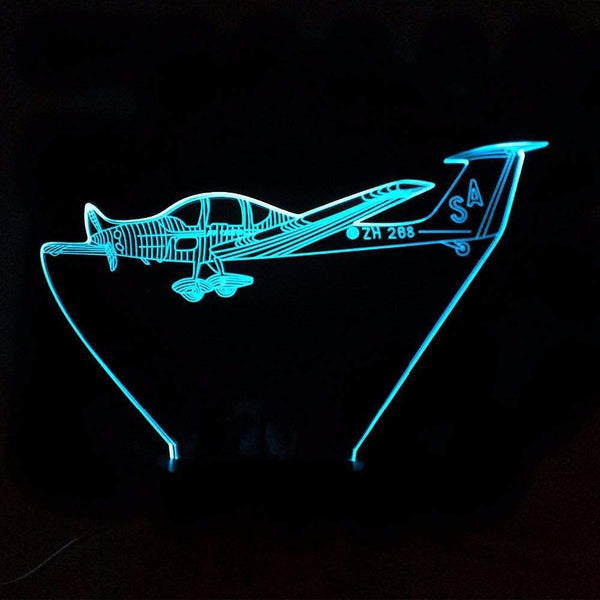 GearNets 3D 7 Colors Aircraft Night Light