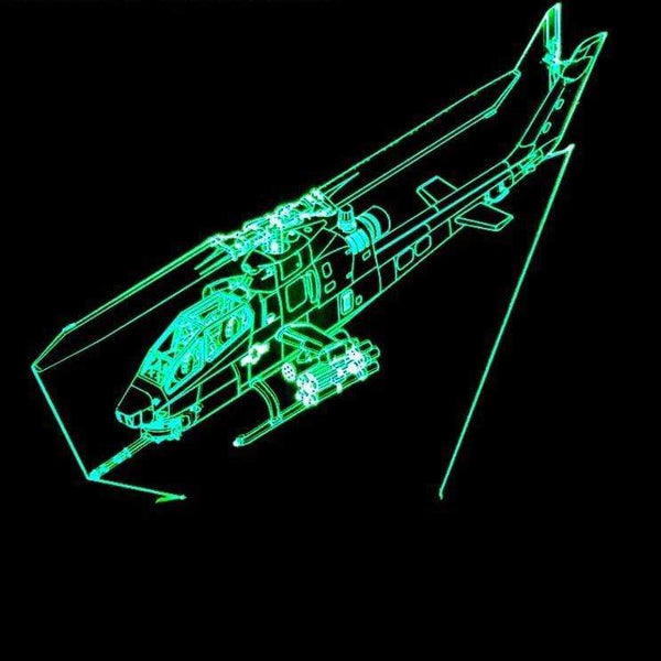 GearNets 3D Helicopter LED Lamp