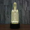 GearNets 3D Night Lights Rockets Night Light 7 Color