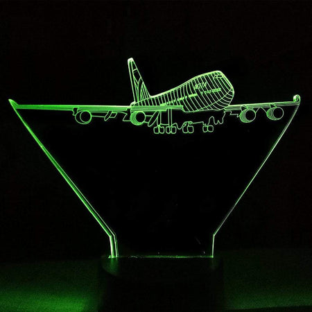 GearNets 7 Colors Change Nightlight 3D Led Aircraft