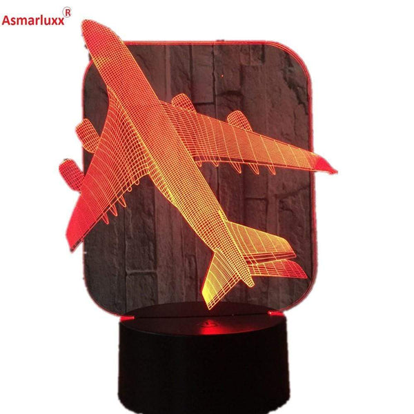 GearNets Airbus A 380 7 Colors LED Illusion 3D Lamp