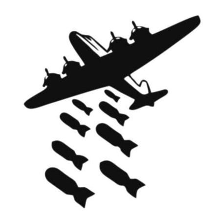 GearNets Aircraft Bombing Creative Toilet Sticker