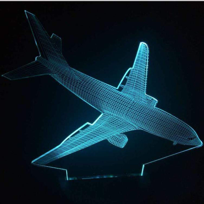 GearNets AIRPLANE 3D LAMP 7 changeable colors