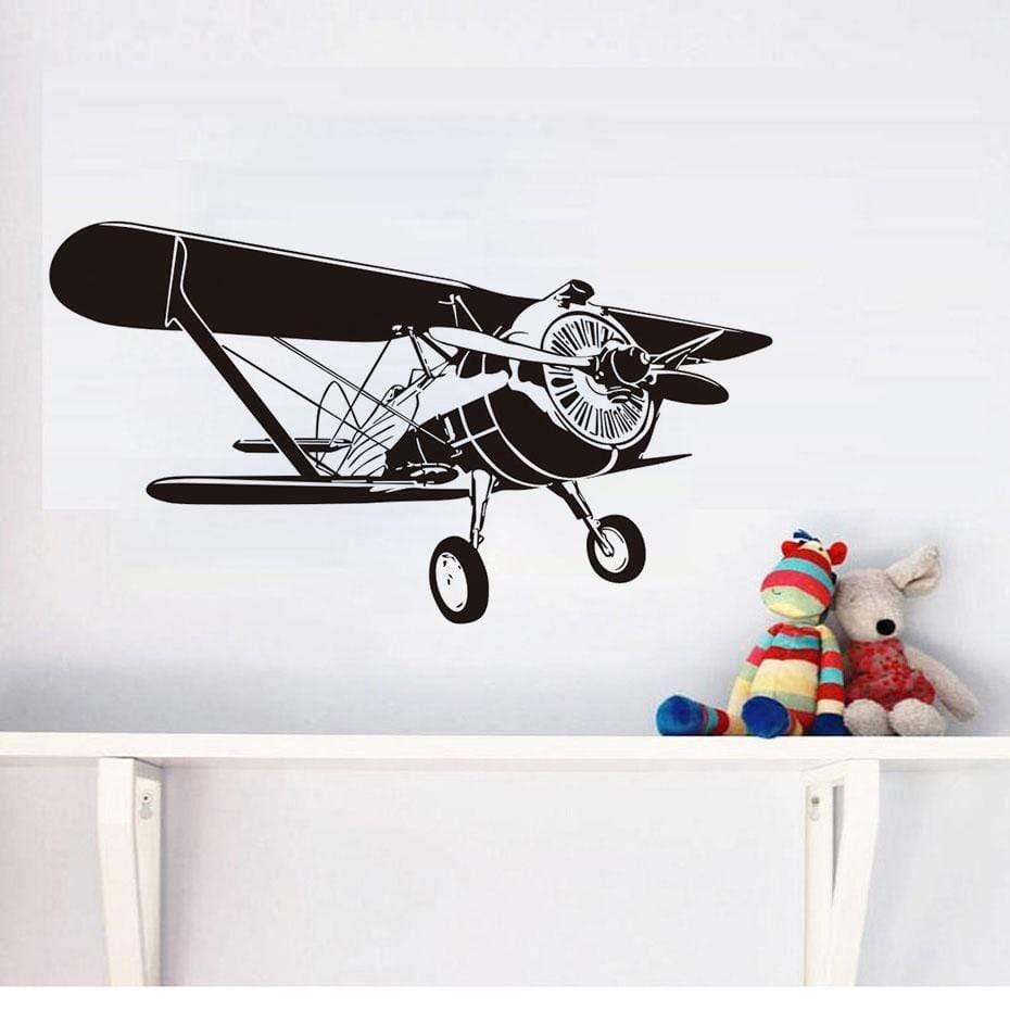 GearNets Airplane Cartoon Wall Stickers