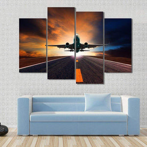 GearNets Airplane Taking Off From A Runway Wall Stickers