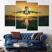 GearNets Airplane Taking Off From Runway Wall Stickers