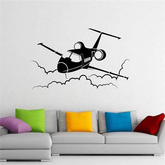 GearNets Airplane Wall Decal Plane Vinyl Sticker