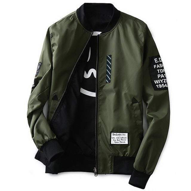 GearNets Army Green / M Grandwish Bomber Jacket Men Pilot