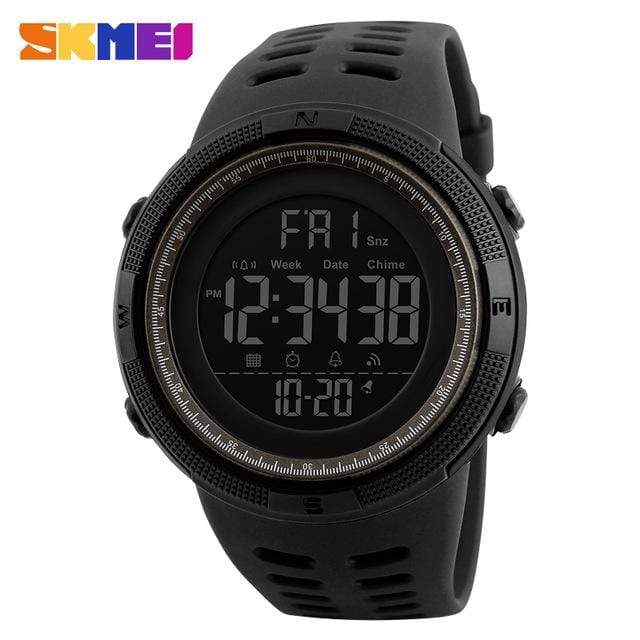 GearNets Black Brown Countdown Double Time Watch