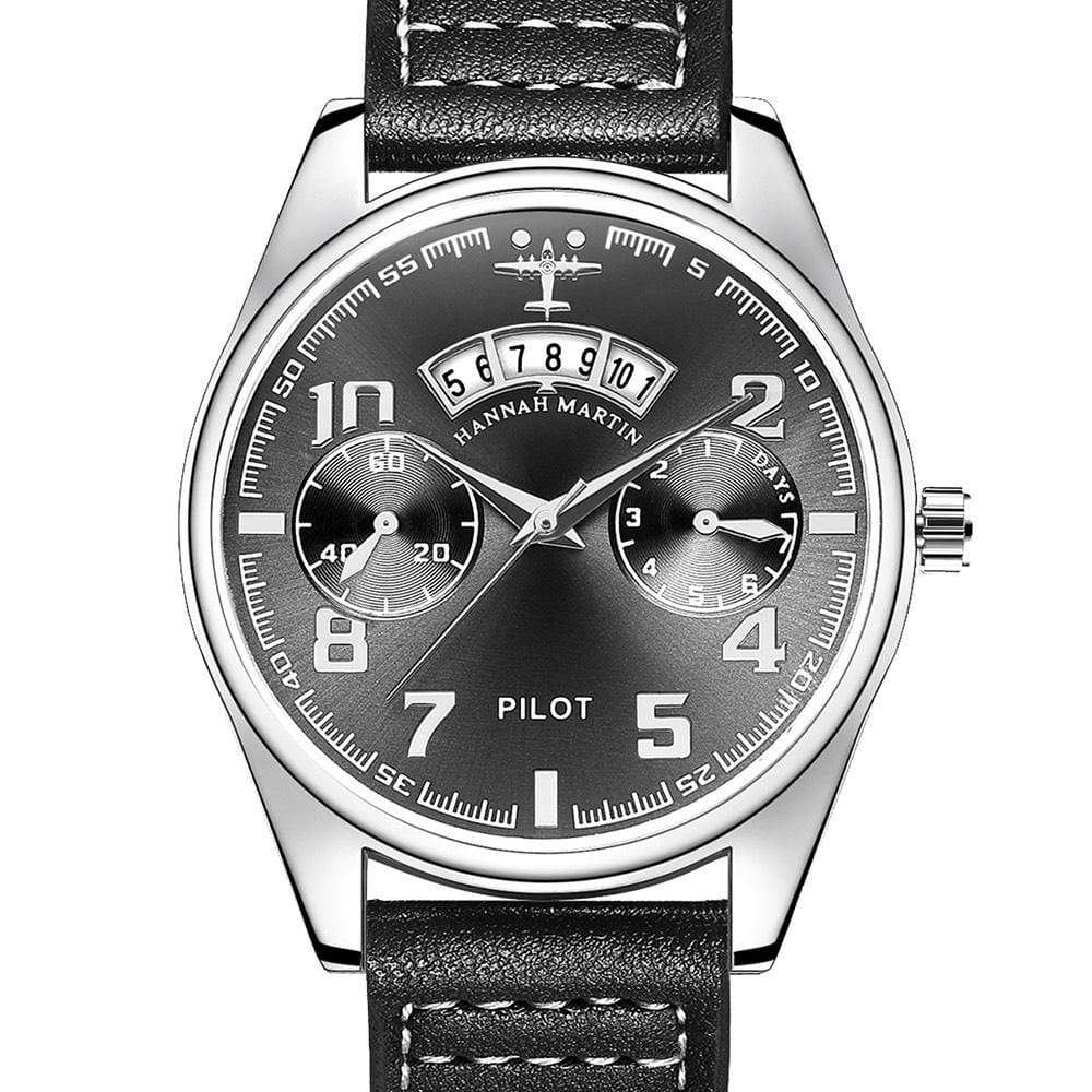 GearNets Black Luxury Aviator & Pilot Watches