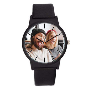 GearNets black Photo printing Personalized watch