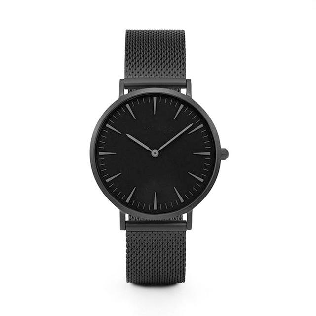 GearNets Black Stainless Steel Mesh Band Watches
