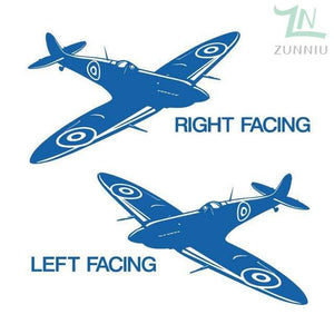 GearNets Blue / 88x57cm WALL ART STICKER BRITISH FIGHTER WW2 AIRCRAFT