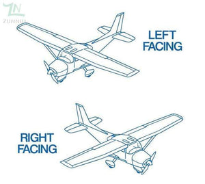 GearNets Blue / 96x57cm CESSNA room wall stickers