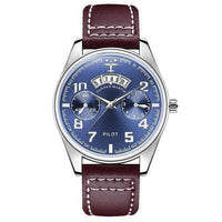GearNets Blue And Chocolate Luxury Aviator & Pilot Watches