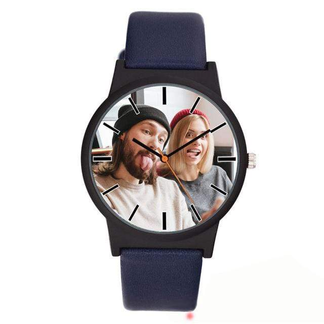 GearNets blue Photo printing Personalized watch