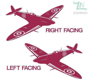GearNets Blush / 88x57cm WALL ART STICKER BRITISH FIGHTER WW2 AIRCRAFT