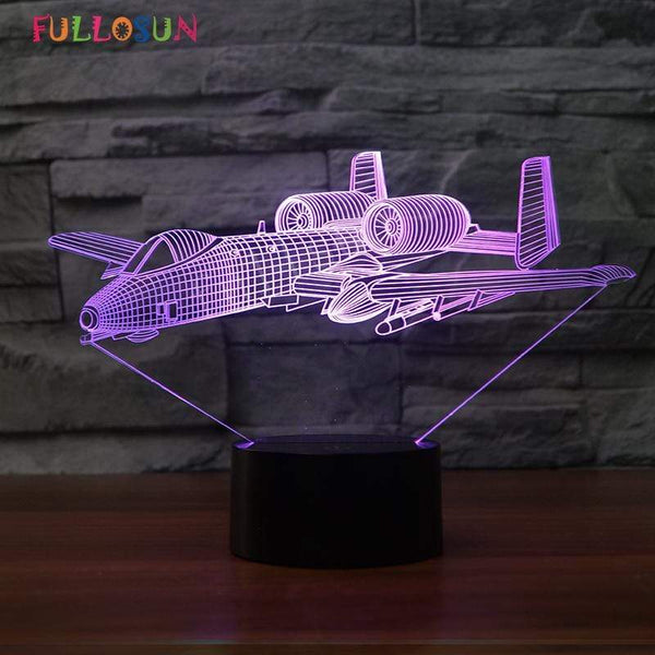 GearNets Bomber 3D LAMP 7 changeable colors