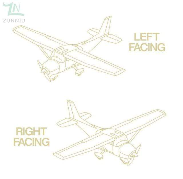 GearNets Brimstone Yellow / 96x57cm CESSNA room wall stickers