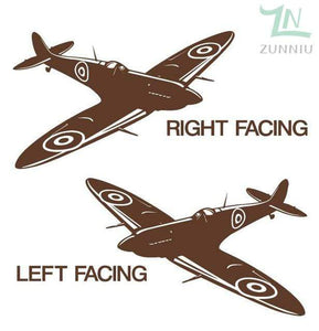 GearNets Brown / 88x57cm WALL ART STICKER BRITISH FIGHTER WW2 AIRCRAFT
