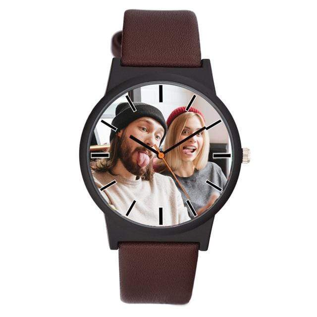GearNets brown Photo printing Personalized watch