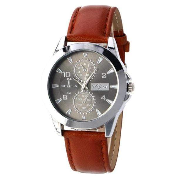 GearNets Brown Three Areas Full Chronograph Quartz Watch