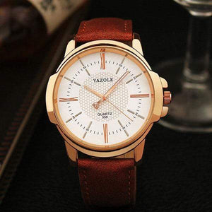 GearNets brown white Rose Gold Wrist Watch Men 2018