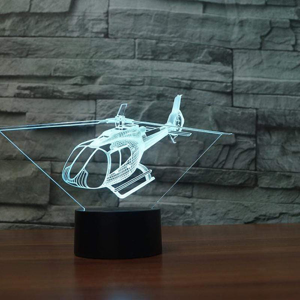 GearNets C 130 HELICOPTER 3D LAMP 8 changeable colors