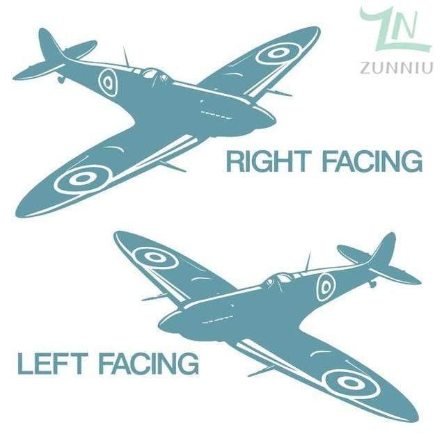 GearNets Canal Blue / 88x57cm WALL ART STICKER BRITISH FIGHTER WW2 AIRCRAFT