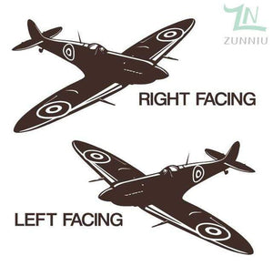 GearNets Coffee / 88x57cm WALL ART STICKER BRITISH FIGHTER WW2 AIRCRAFT