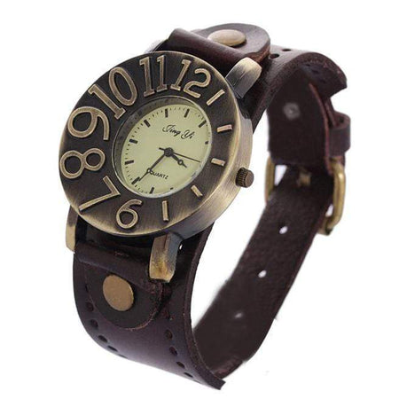 GearNets Quartz Analog Punk Watch
