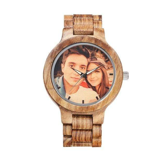 GearNets Color print Custom Watch Vintage Zebra Full Wooden Mens Watches