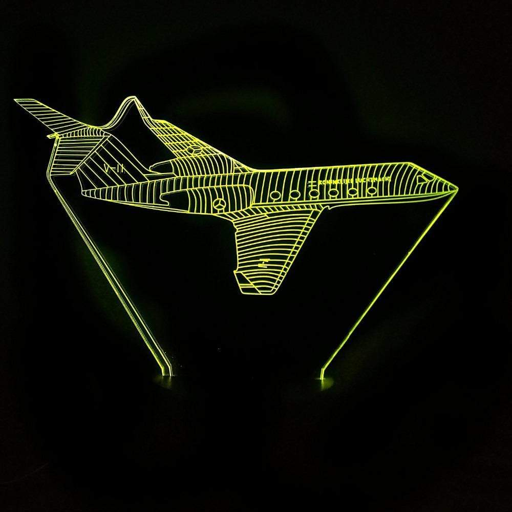GearNets Creative 3D Visual Colorful Changing Aviation Aircraft Led Lamp