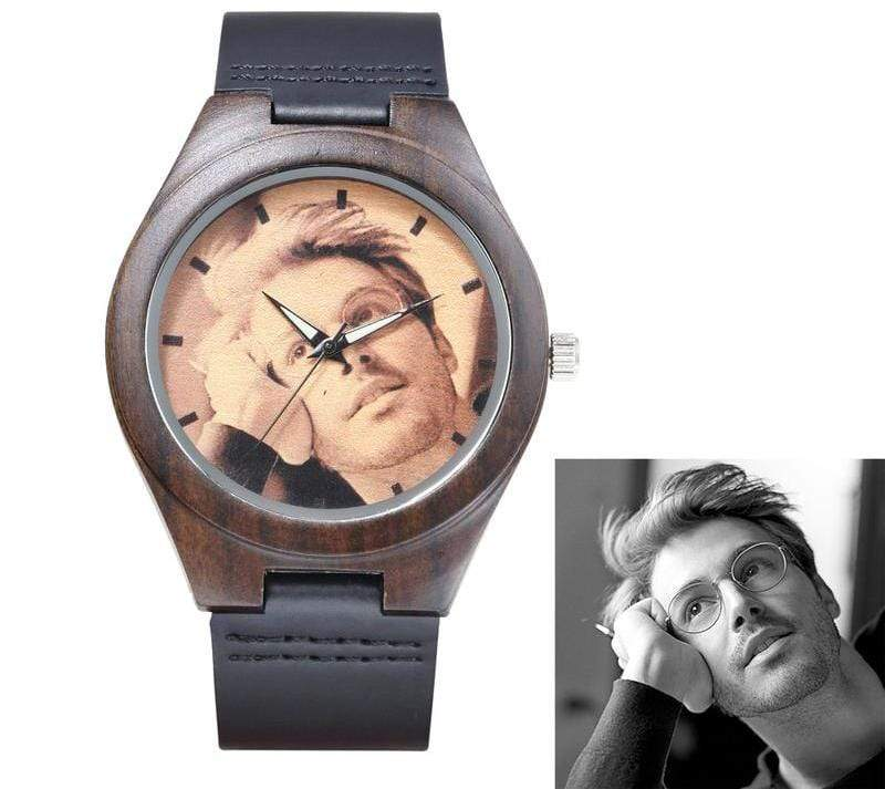 GearNets Customized Photo Wooden Watch