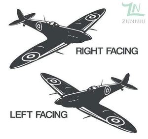 GearNets Dark Grey / 88x57cm WALL ART STICKER BRITISH FIGHTER WW2 AIRCRAFT