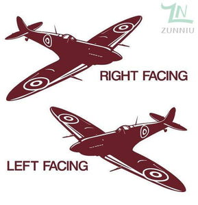GearNets Dark Red / 88x57cm WALL ART STICKER BRITISH FIGHTER WW2 AIRCRAFT