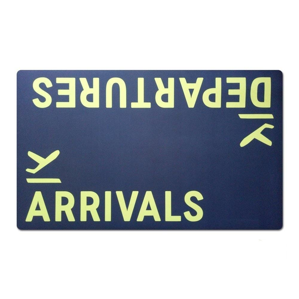 GearNets Departures Arrivals Airplane Funny Entrance Custom Doormat