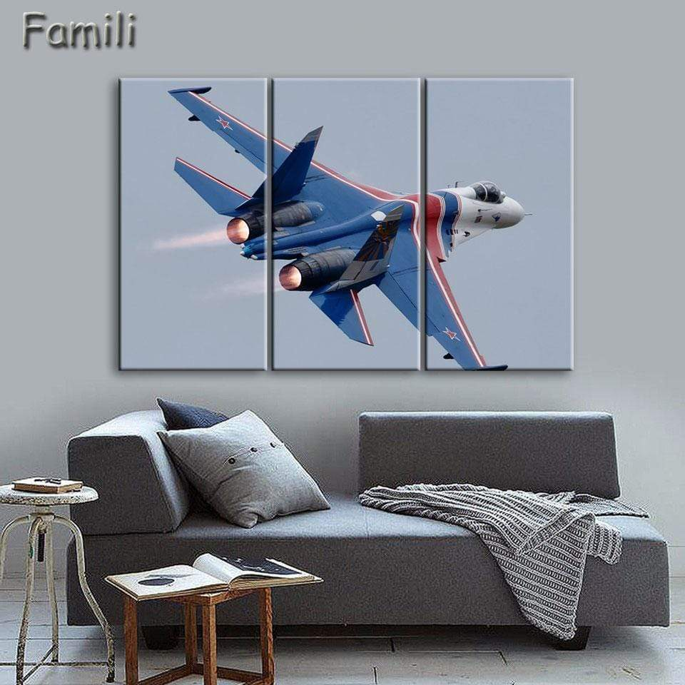 GearNets Fighter Aircraft Wall Picture